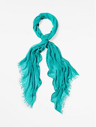 White Stuff Skinny Away Scarf, Jade Green