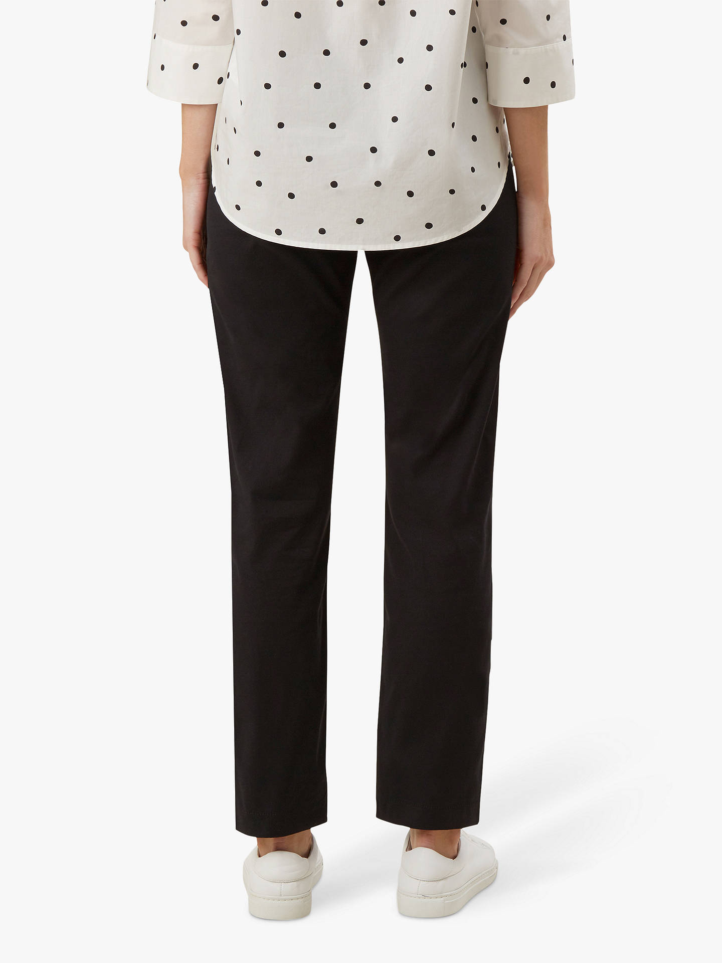 Buy Hobbs Paislyn Chinos, Black, 6 Online at johnlewis.com