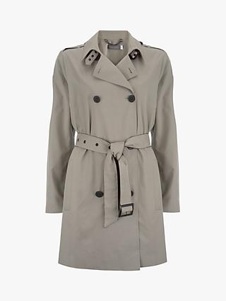 Mint Velvet Trench Coat, Light Green