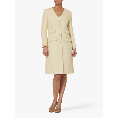 Helen McAlinden Lydia Boucle Coat, Cream