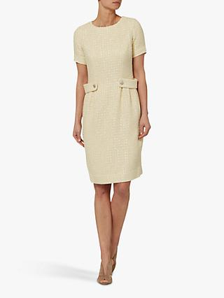 Helen McAlinden Kriss Boucle Pencil Dress, Cream