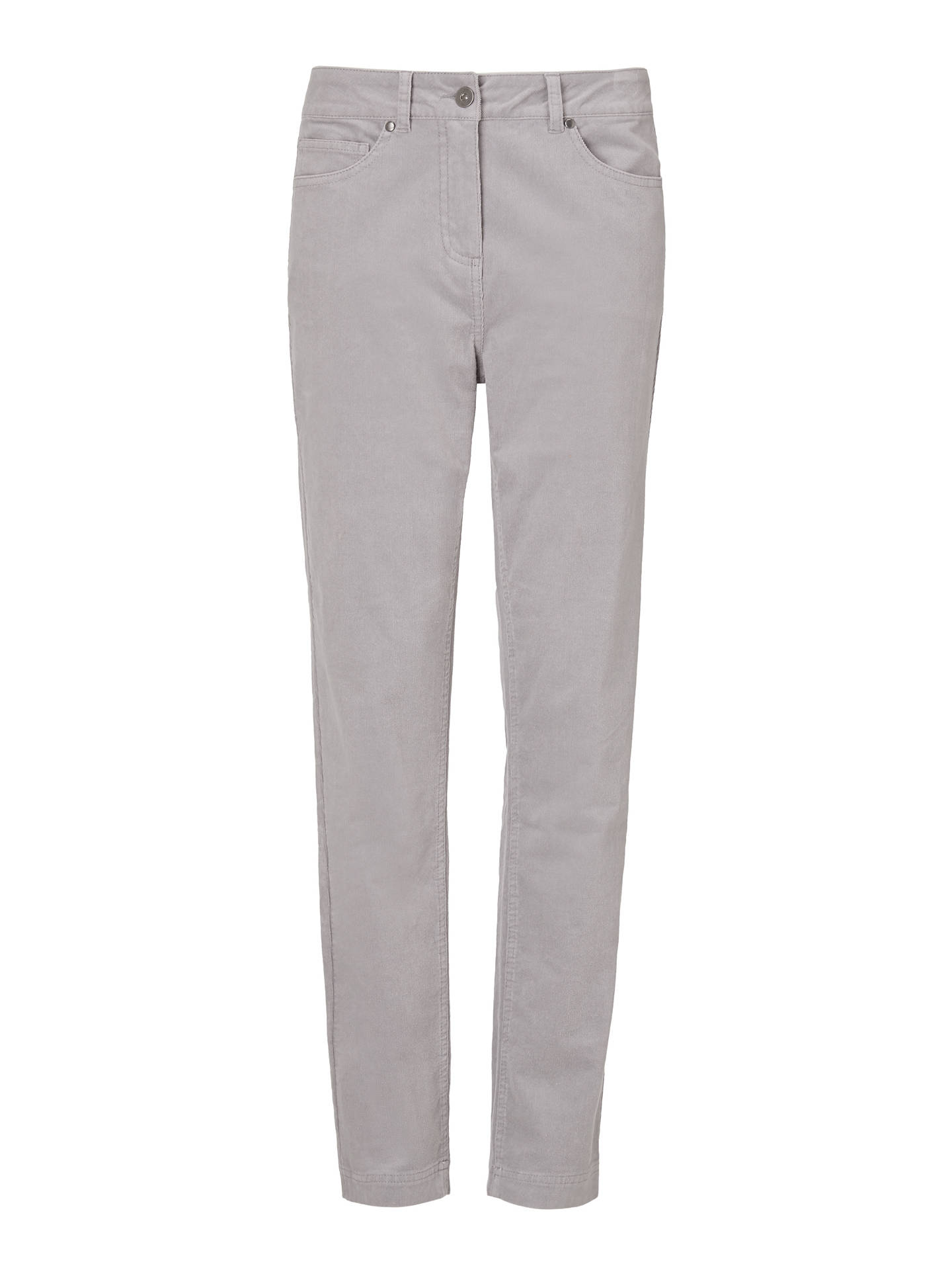 Buy John Lewis & Partners Corduroy Straight Leg Jeans, Silver Grey, 8 Online at johnlewis.com