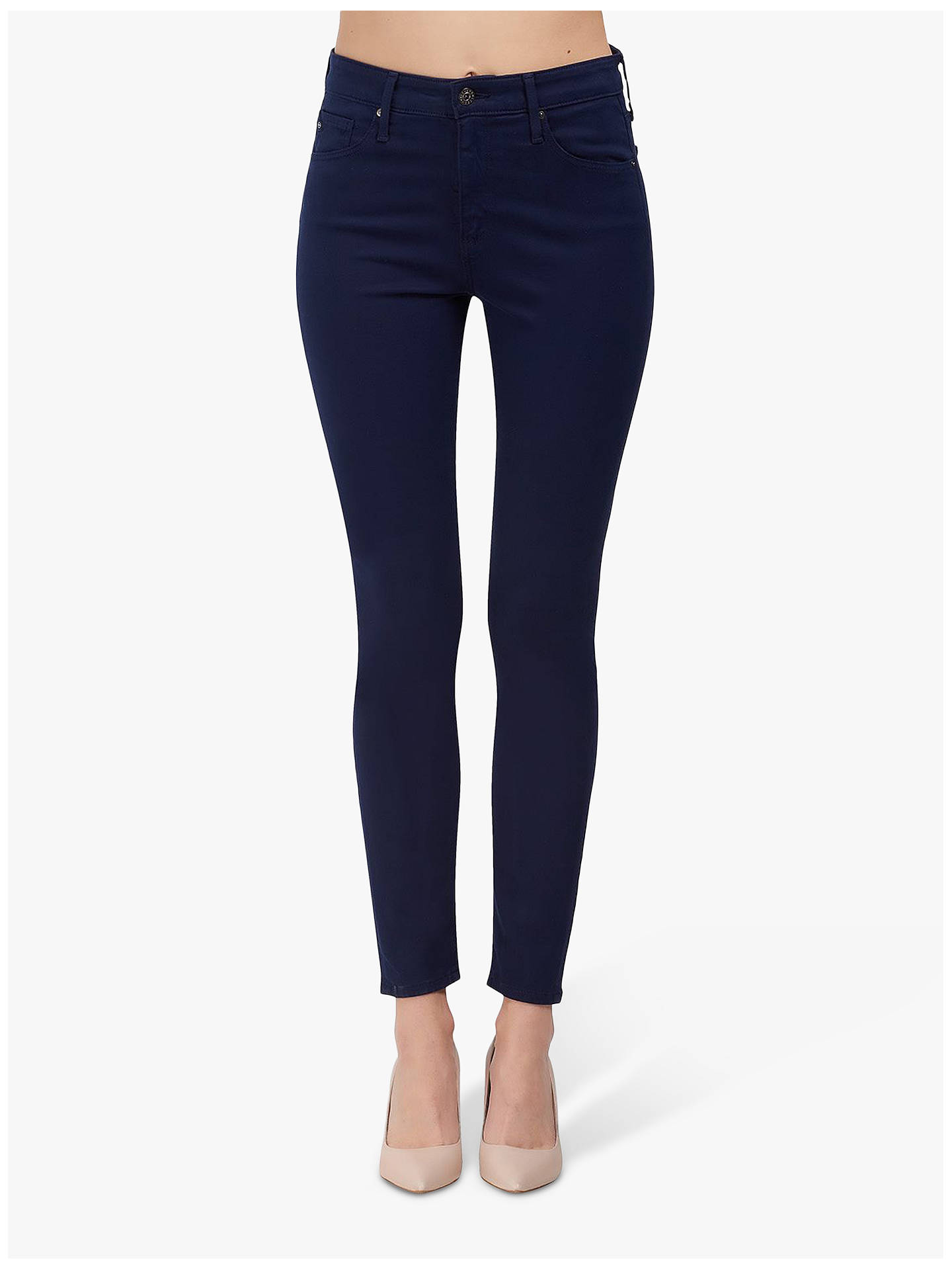 AG The Farrah Mid Rise Skinny Jeans, Indigo Ink at John