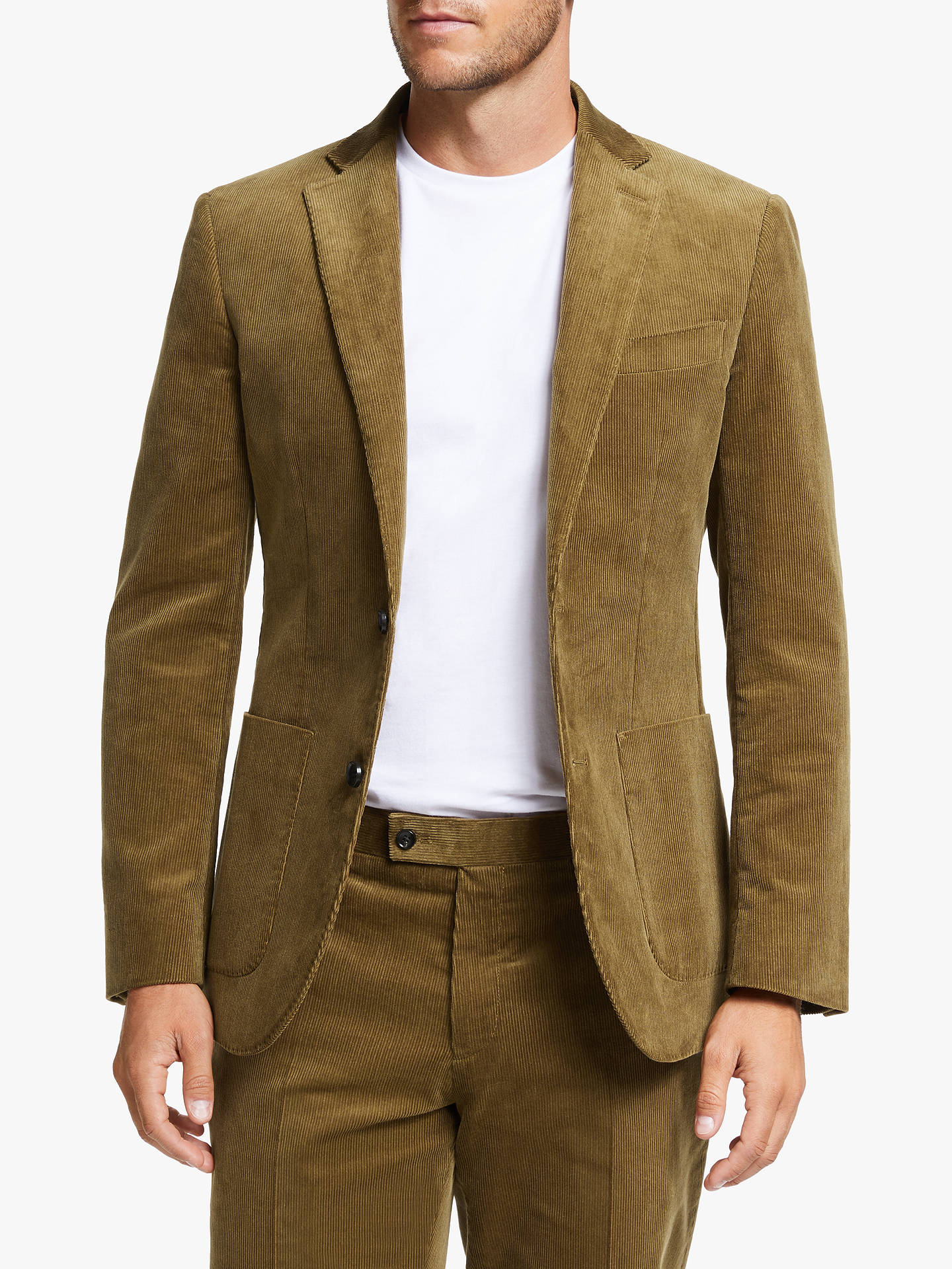 Buy John Lewis & Partners Cotton Corduroy Suit Jacket, Sand, 42S Online at johnlewis.com