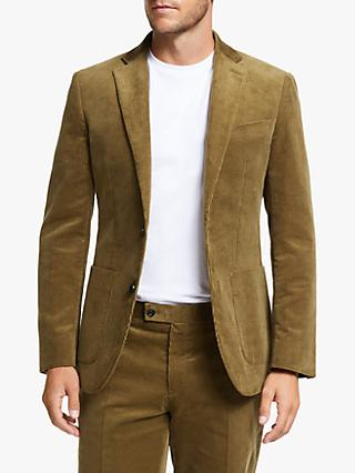 John Lewis & Partners Cotton Corduroy Suit Jacket, Sand