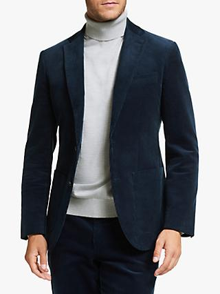 John Lewis & Partners Cotton Corduroy Suit Jackett, Blue