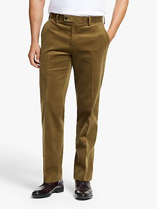 John Lewis & Partners Cotton Corduroy Suit Trousers, Sand