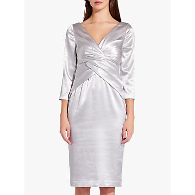 Adrianna Papell Satin Fold Waist Dress, Moonlight