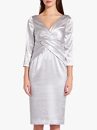Adrianna Papell Satin Fold Waist Dress, Moonlight