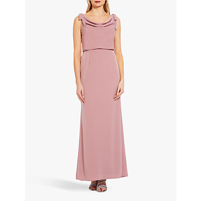 Adrianna Papell Cowl Neck Crepe Dress, Rose