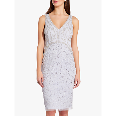 Adrianna Papell Sleeveless Beaded Mini Dress