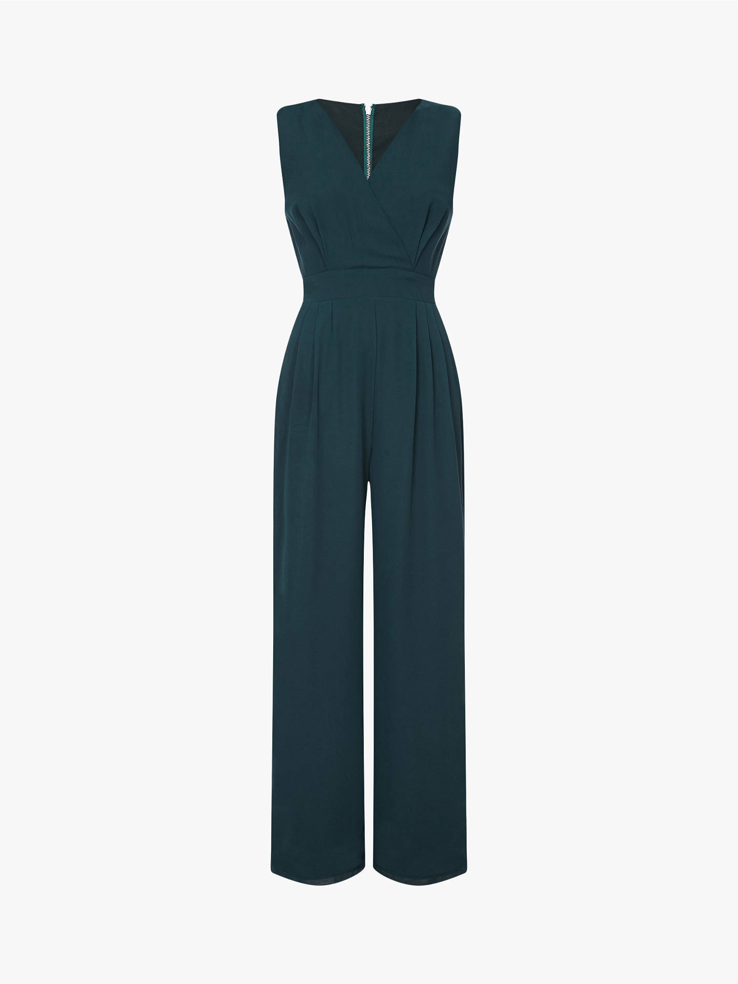 Buy Yumi Sleeveless Wrap Pocket Jumpsuit, Green, 16 Online at johnlewis.com