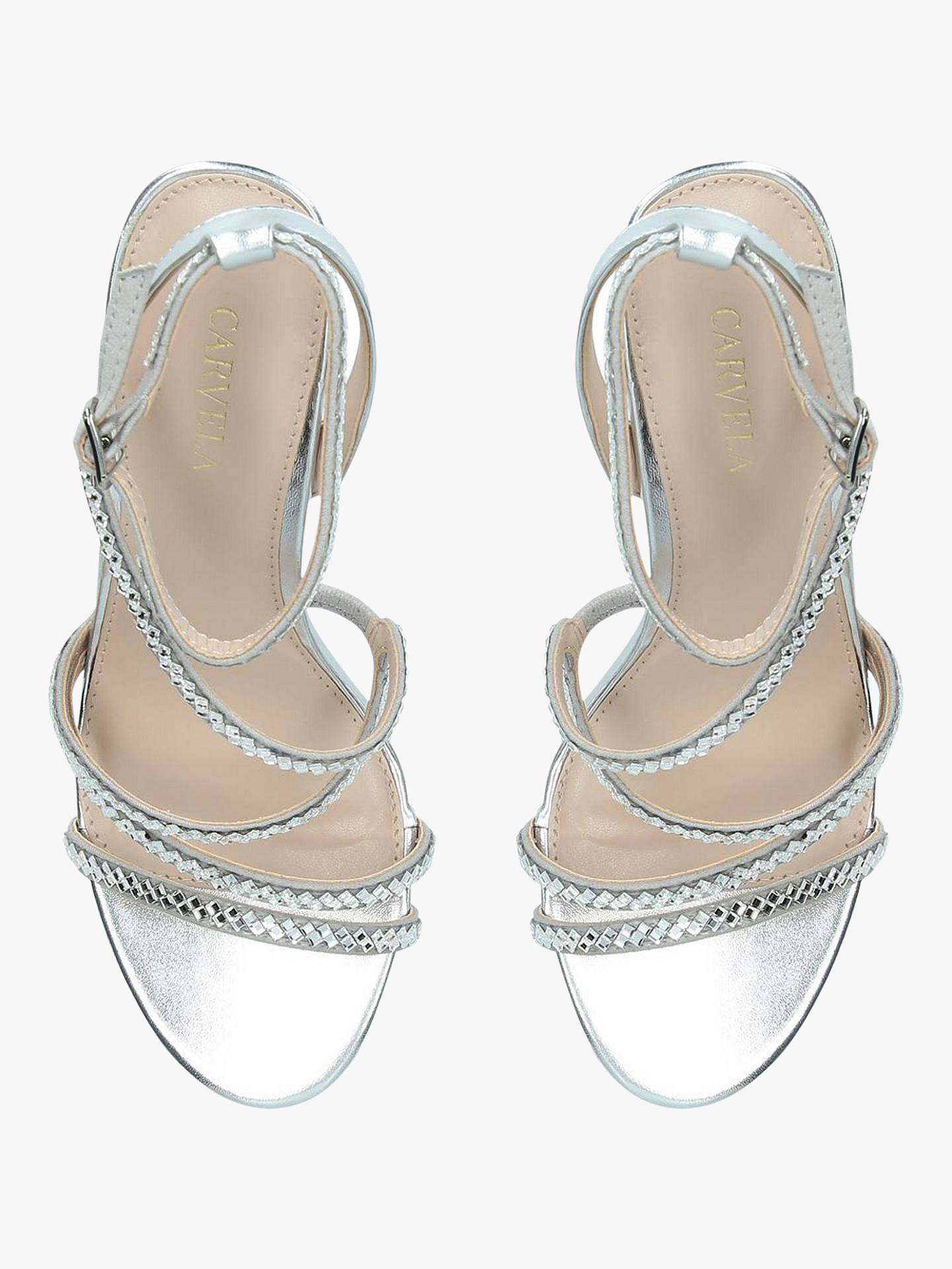 1e1a608d436 Carvela Liberty Embellished Stiletto Heel Strappy Sandals, Silver