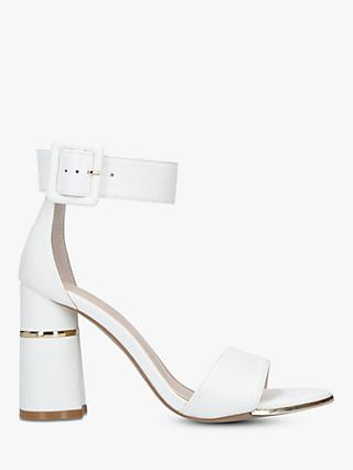 Carvela Gaye Block Heel Sandals, White