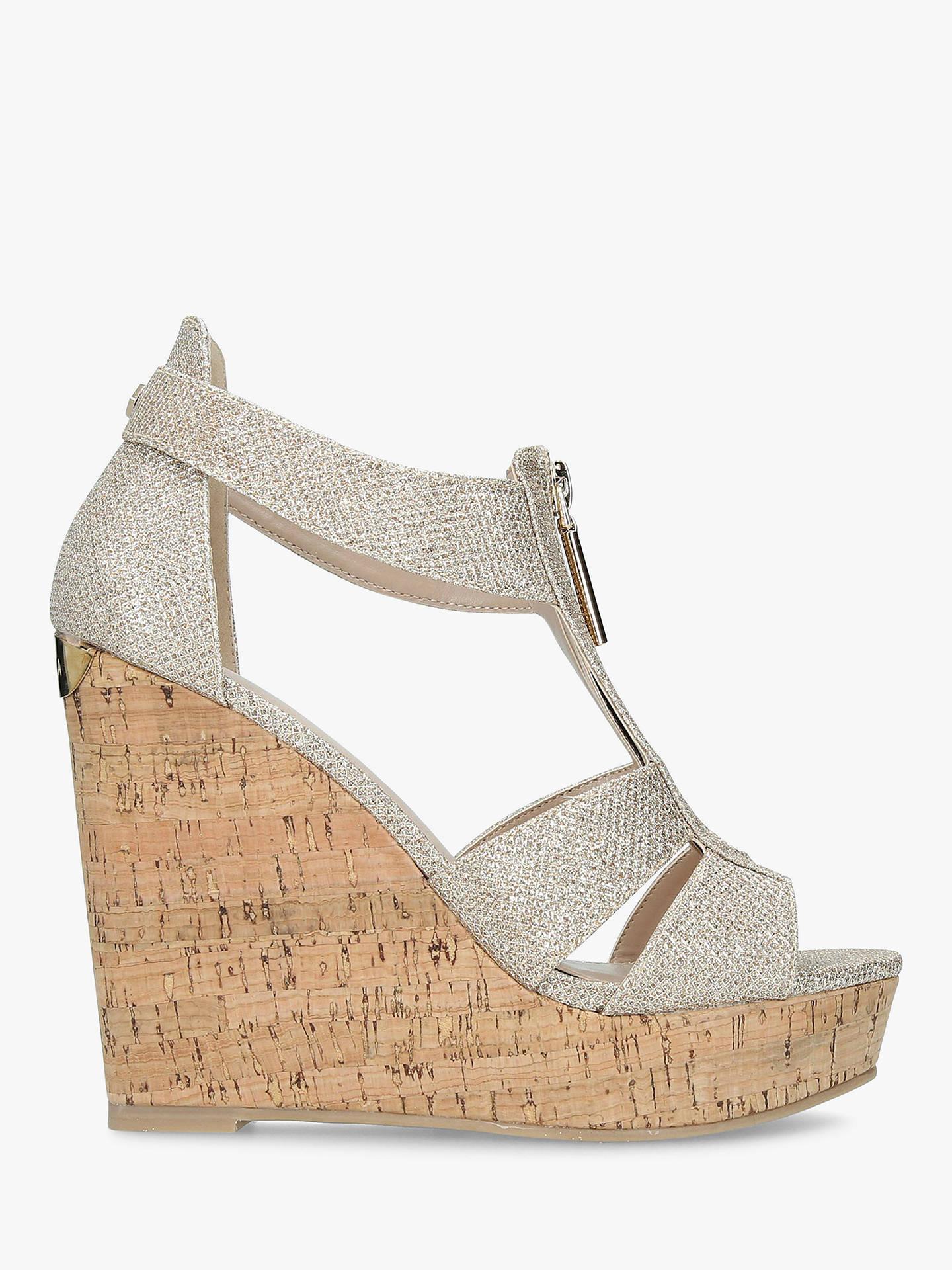 d2150c4c4b Buy Carvela Krass Wedge Heel Sandals, Gold, 3 Online at johnlewis.com ...