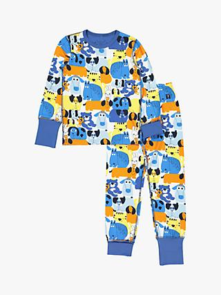 Polarn O. Pyret Children's Animal Pyjamas, Blue