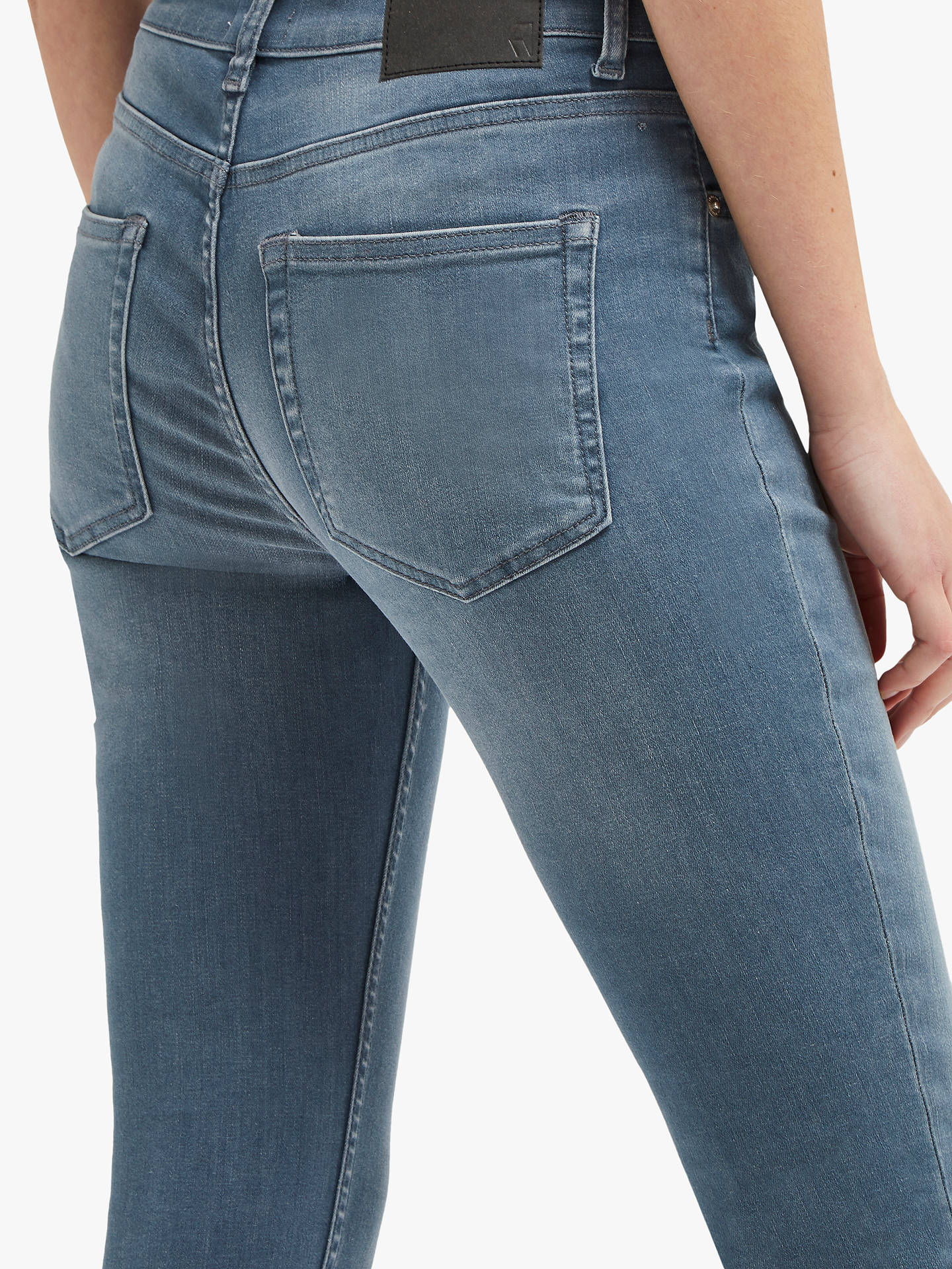Buy French Connection Mid Rise Skinny Rebound Jeans, Blue/Grey, 6 Online at johnlewis.com