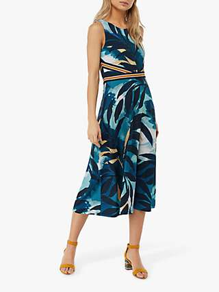 Monsoon Amarelle Print Dress, Blue