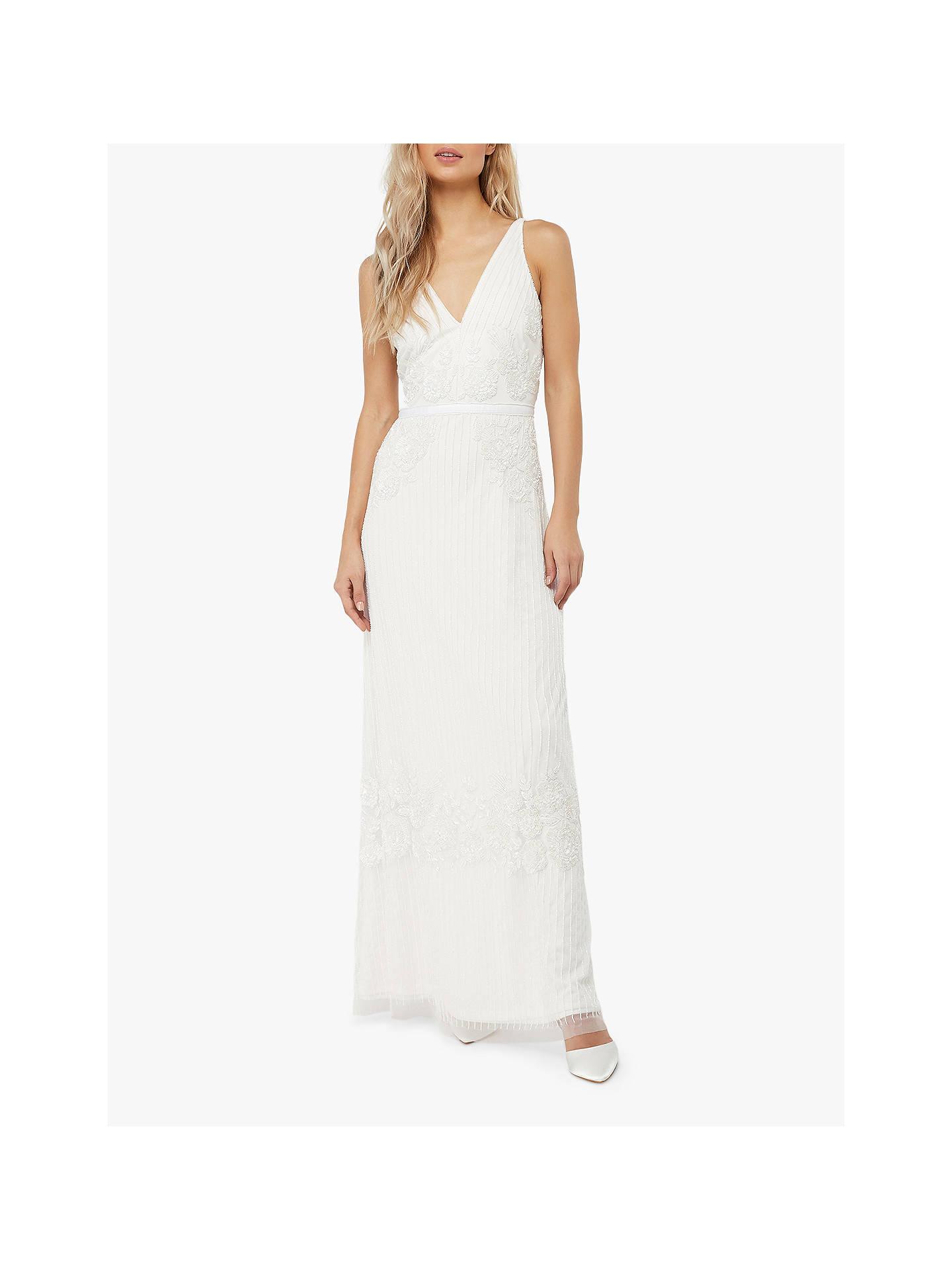 67029f153dd9 Buy Monsoon Margaret Embellished Bridal Maxi Dress, Ivory, 6 Online at  johnlewis.com ...