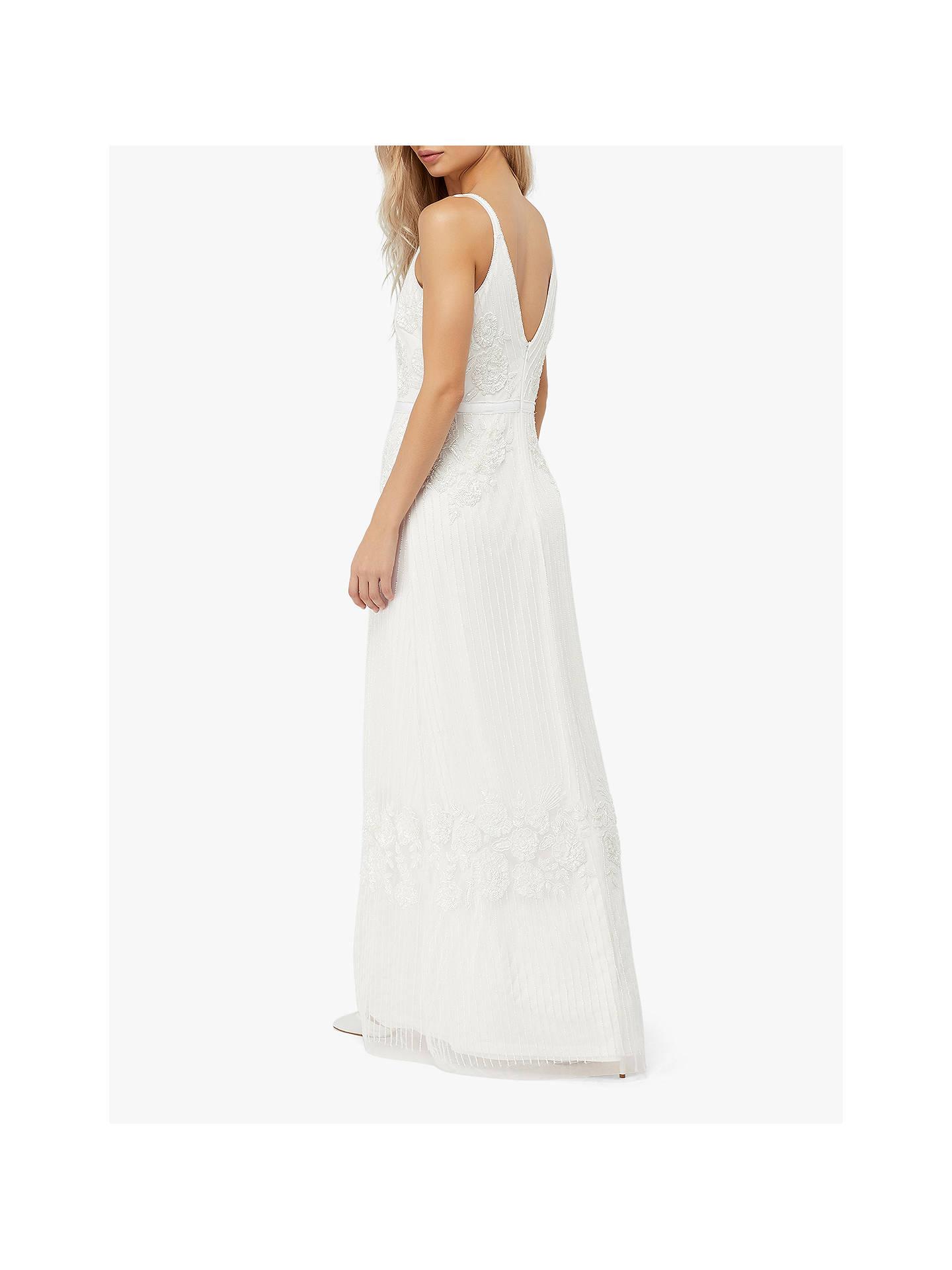79d8022bc65a ... Buy Monsoon Margaret Embellished Bridal Maxi Dress, Ivory, 6 Online at  johnlewis.com ...