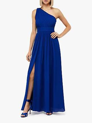 Monsoon Dani One Shoulder Dress, Blue