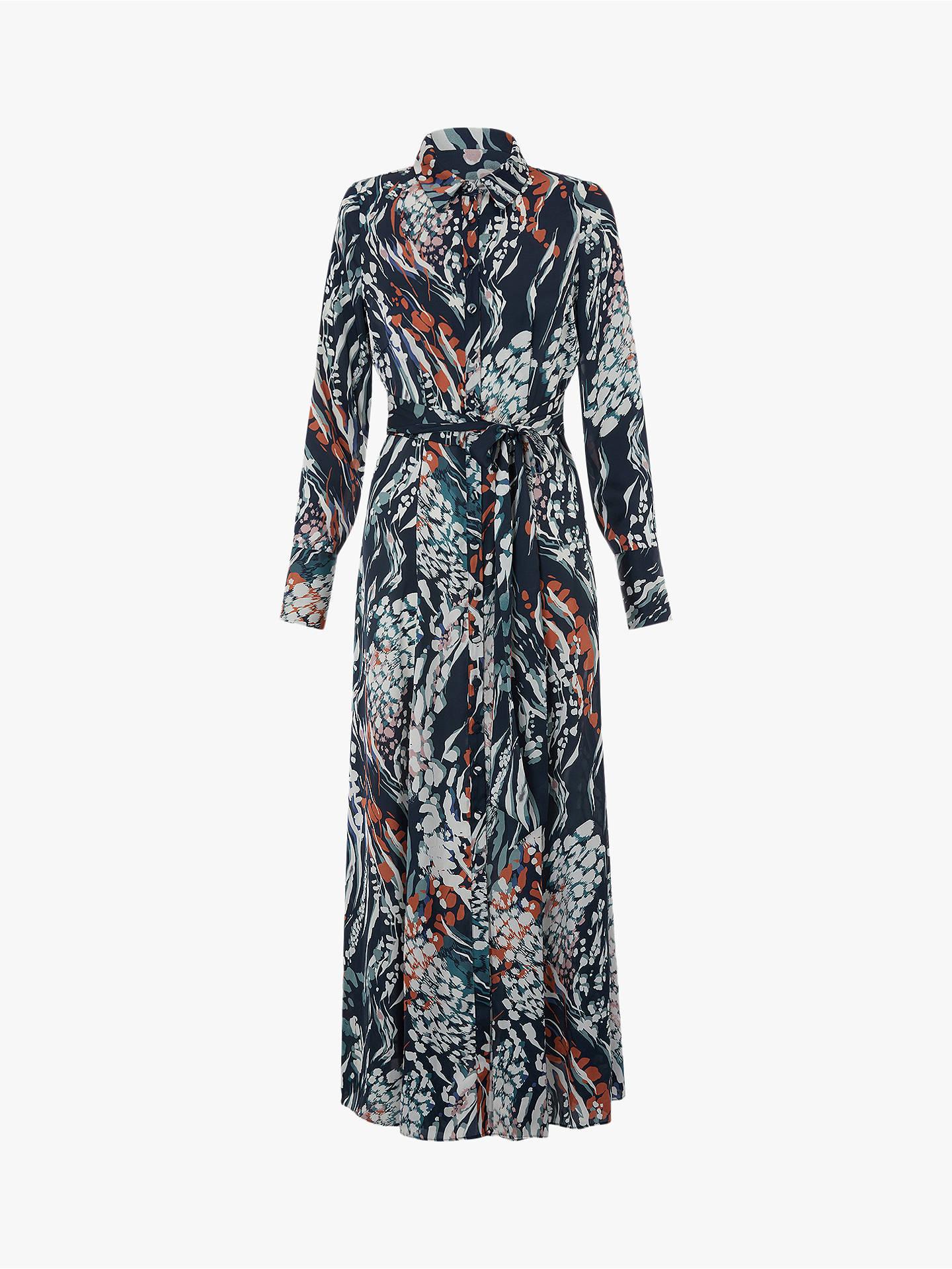 2747975f86d9 ... Buy Monsoon Larna Leopard Print Dress, Brown, 8 Online at johnlewis.com  ...