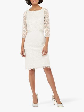 d0b178d3325 Monsoon Camilla Embellished Short Pencil Bridal Dress