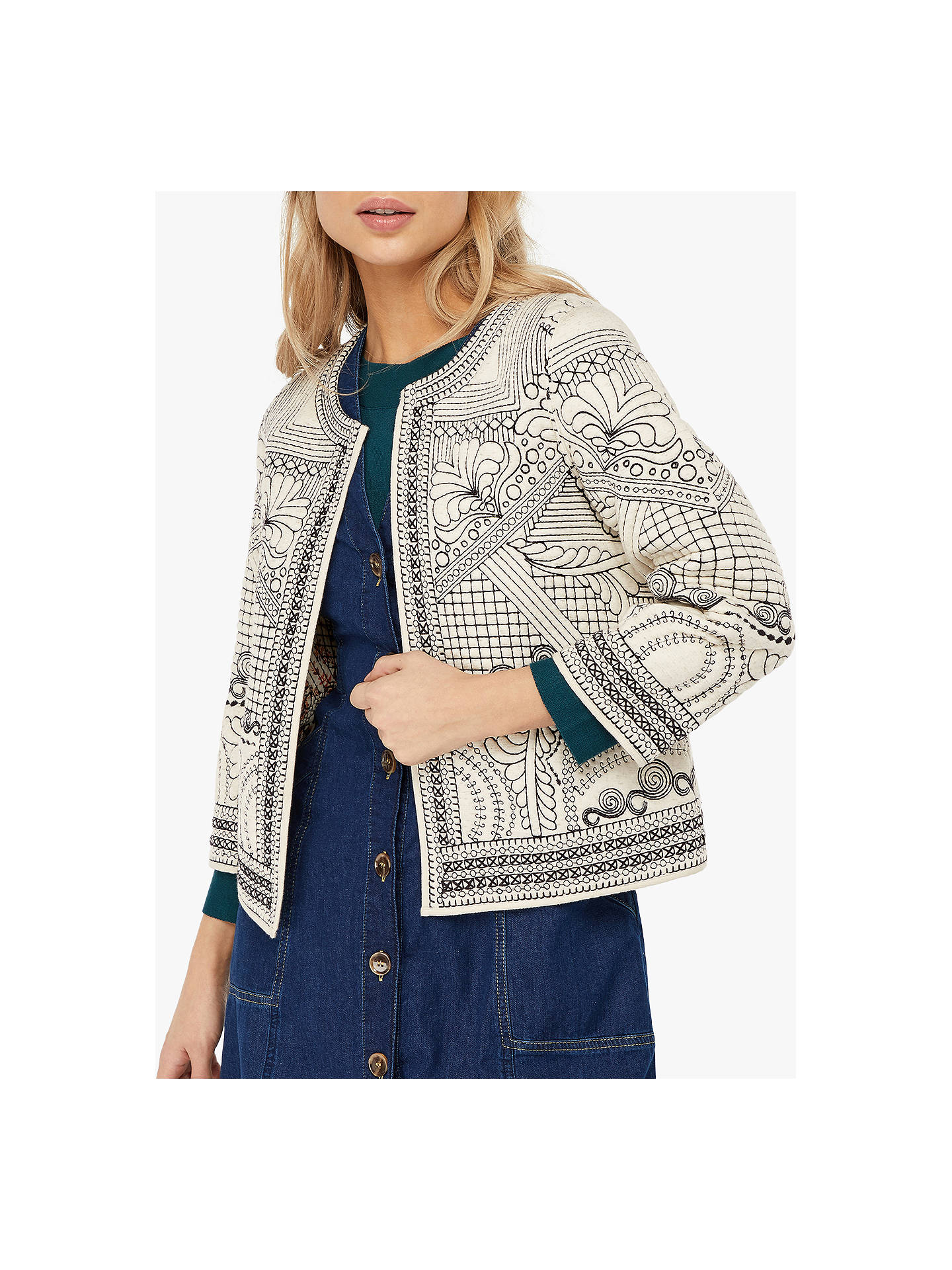 bdc02bcc Buy Monsoon Ray Reversible Embroidered Jacket, Multi, 14 Online at  johnlewis.com ...