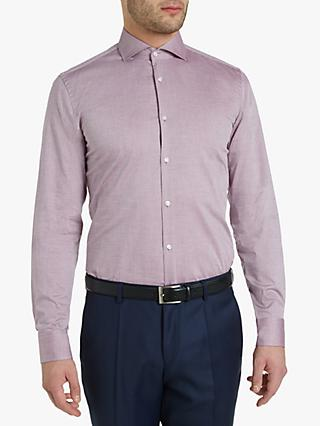 9c1827e65 HUGO by Hugo Boss Kason Dobby Dot Slim Fit Shirt, Dark Red