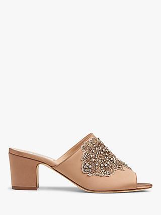 07597cb7f4d4 L.K.Bennett Sabrina Embellished Block Heel Mule Sandals