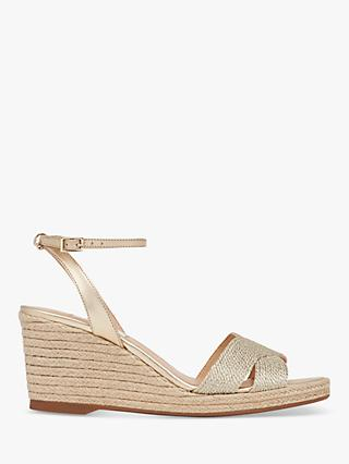 L.K.Bennett Mabella Wedge Heel Sandals, Gold