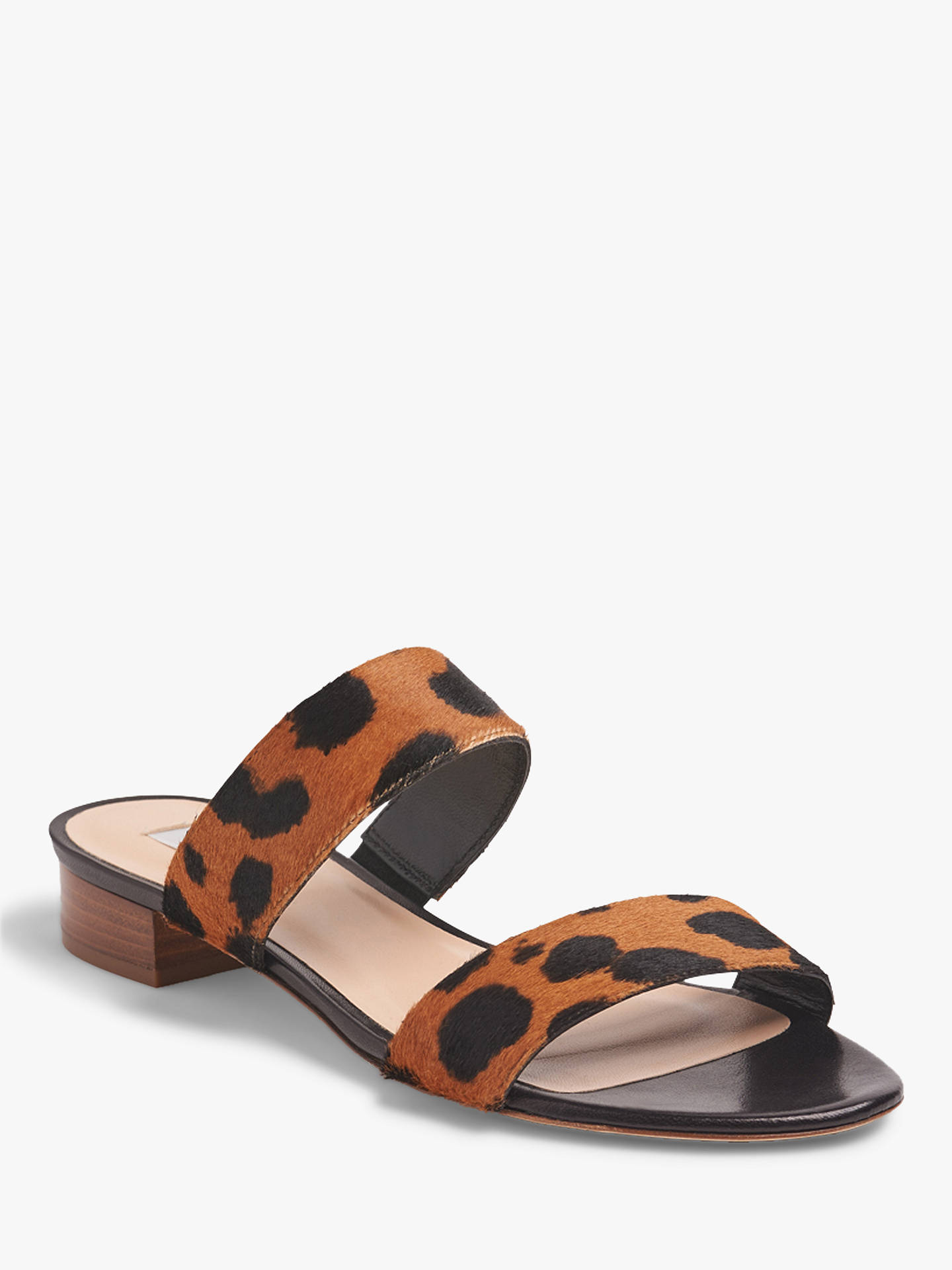 Buy L.K.Bennett Eveleen Double Strap Sandals, Leopard Leather, 8 Online at johnlewis.com