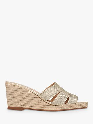 L.K.Bennett Magnolia Wedge Heel Sandals, Lurex Gold