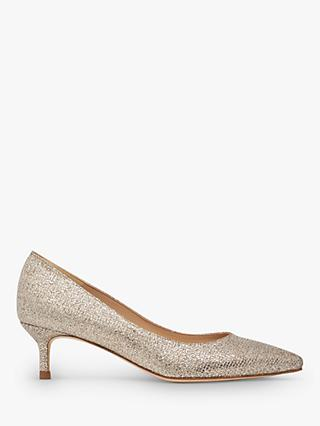 L.K.Bennett Audrey Pointed Toe Court Shoes, Champagne