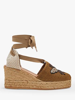 cf0047a7b6b L.K.Bennett Beeza Embroidered Wedge Heel Sandals