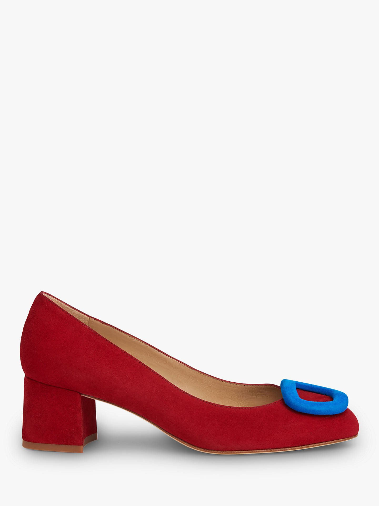 6a0ffaadfa Buy L.K.Bennett Nimah Buckle Court Shoes, Red Suede, 3 Online at johnlewis.