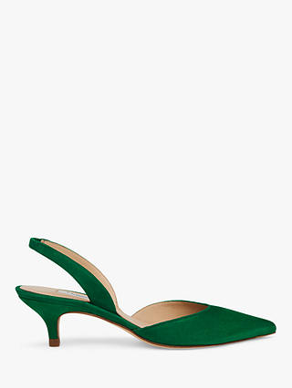 Buy L.K.Bennett Larissa Slingback Court Shoes, Mint Green Suede, 6 Online at johnlewis.com