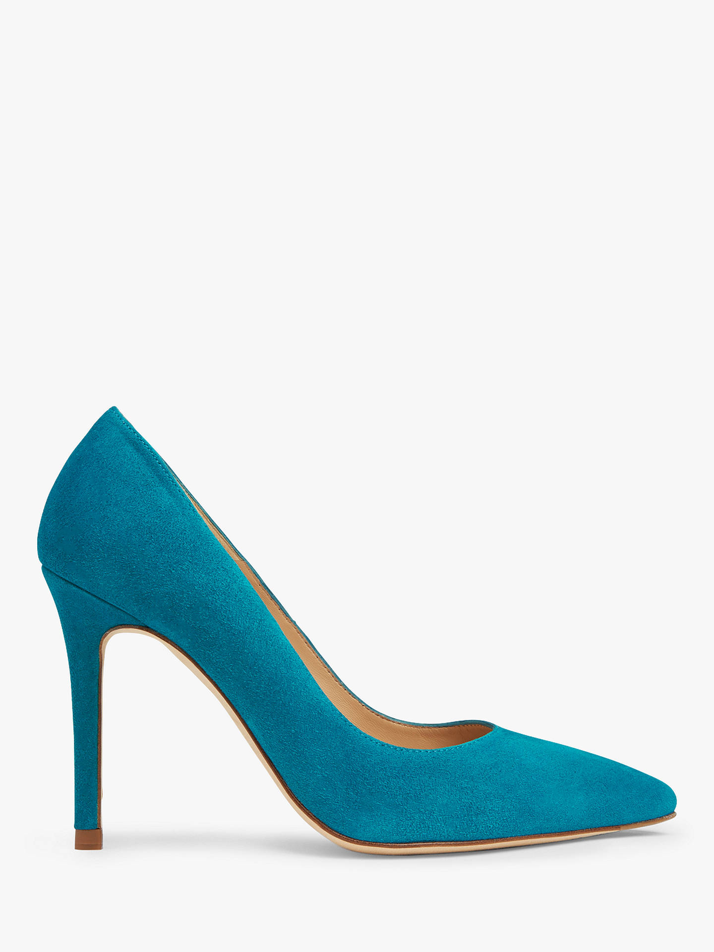 Buy L.K.Bennett Fern Court Shoes, Blue Turquoise Suede, 5 Online at johnlewis.com