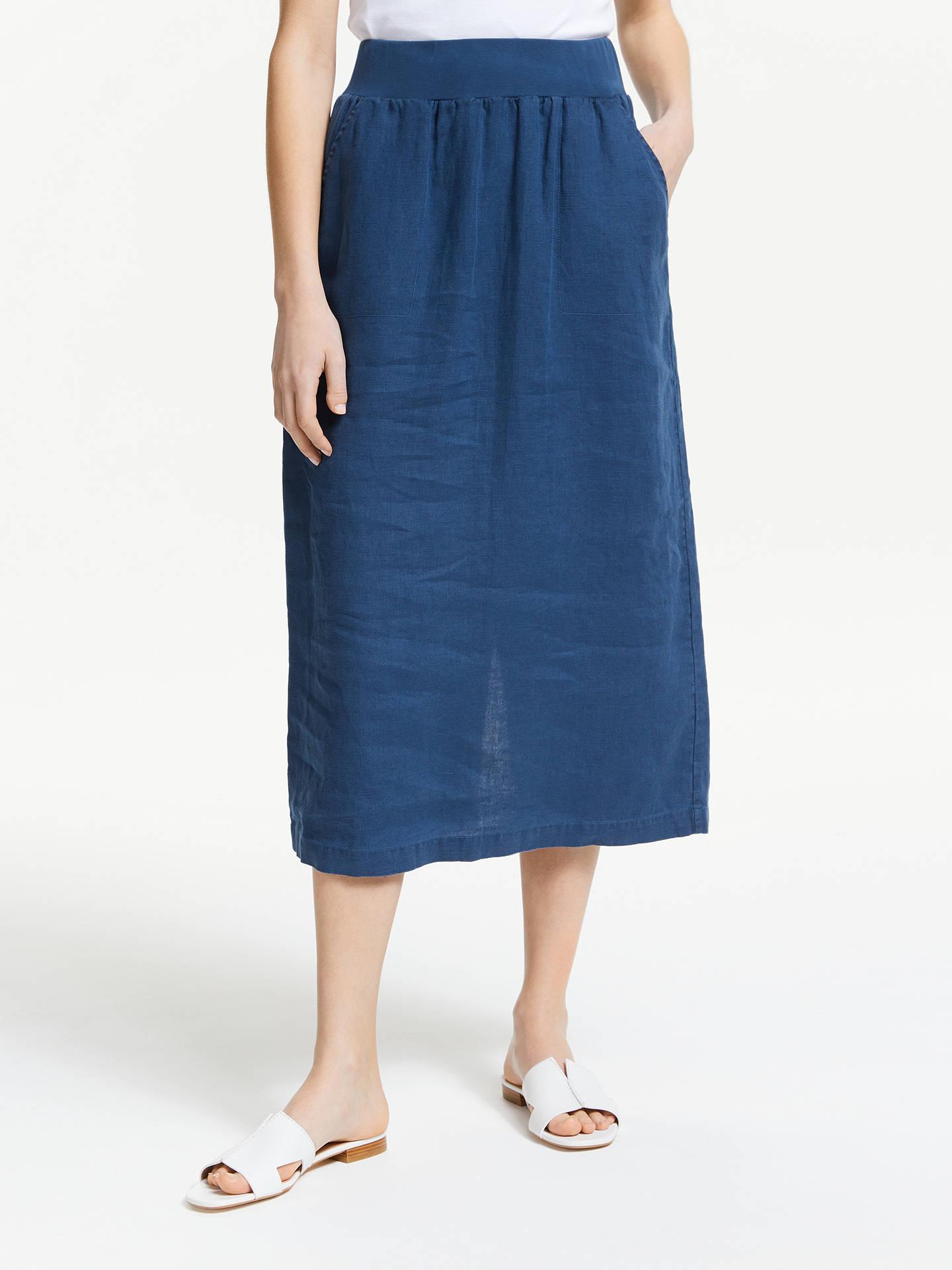 c4c98e36b6 Buy Seasalt Angel Ray Linen Skirt, Night, 8 Online at johnlewis.com ...