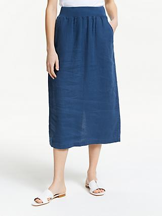 Seasalt Angel Ray Linen Skirt, Night