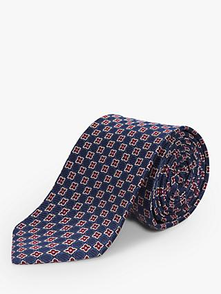 4b26aa43b5c4 Chester by Chester Barrie Celtic Floral Silk Tie, Blue