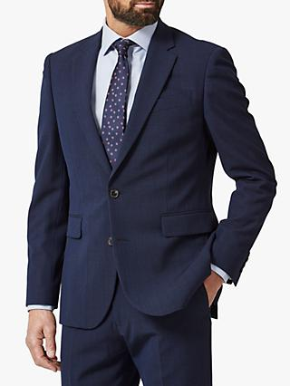 Chester by Chester Barrie Prince of Wales Check Travel Suit Jacket, Navy