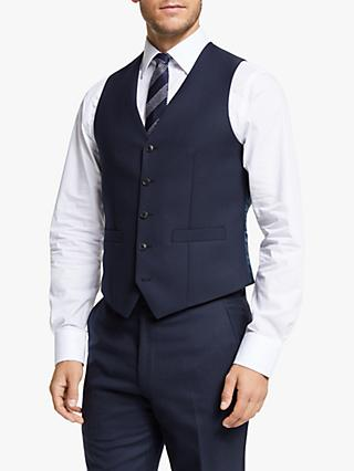 Chester by Chester Barrie Hopsack Wool Tailored Waistcoat, Navy
