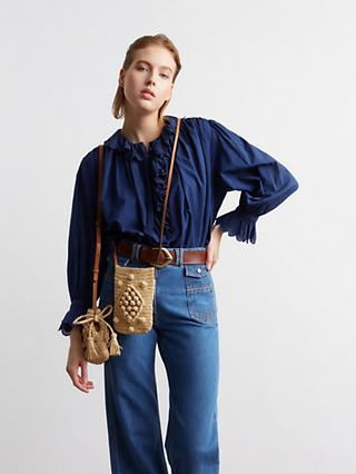 Gerard Darel Wide Leg Jeans, Blue