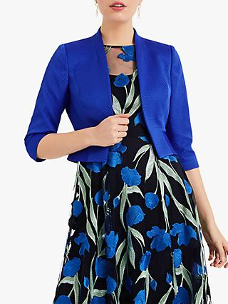 Phase Eight Yani Textured Jacket, Azure