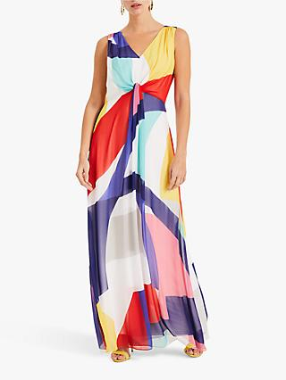 Phase Eight Sedinia Swirl Maxi Dress, Ivory/Multi