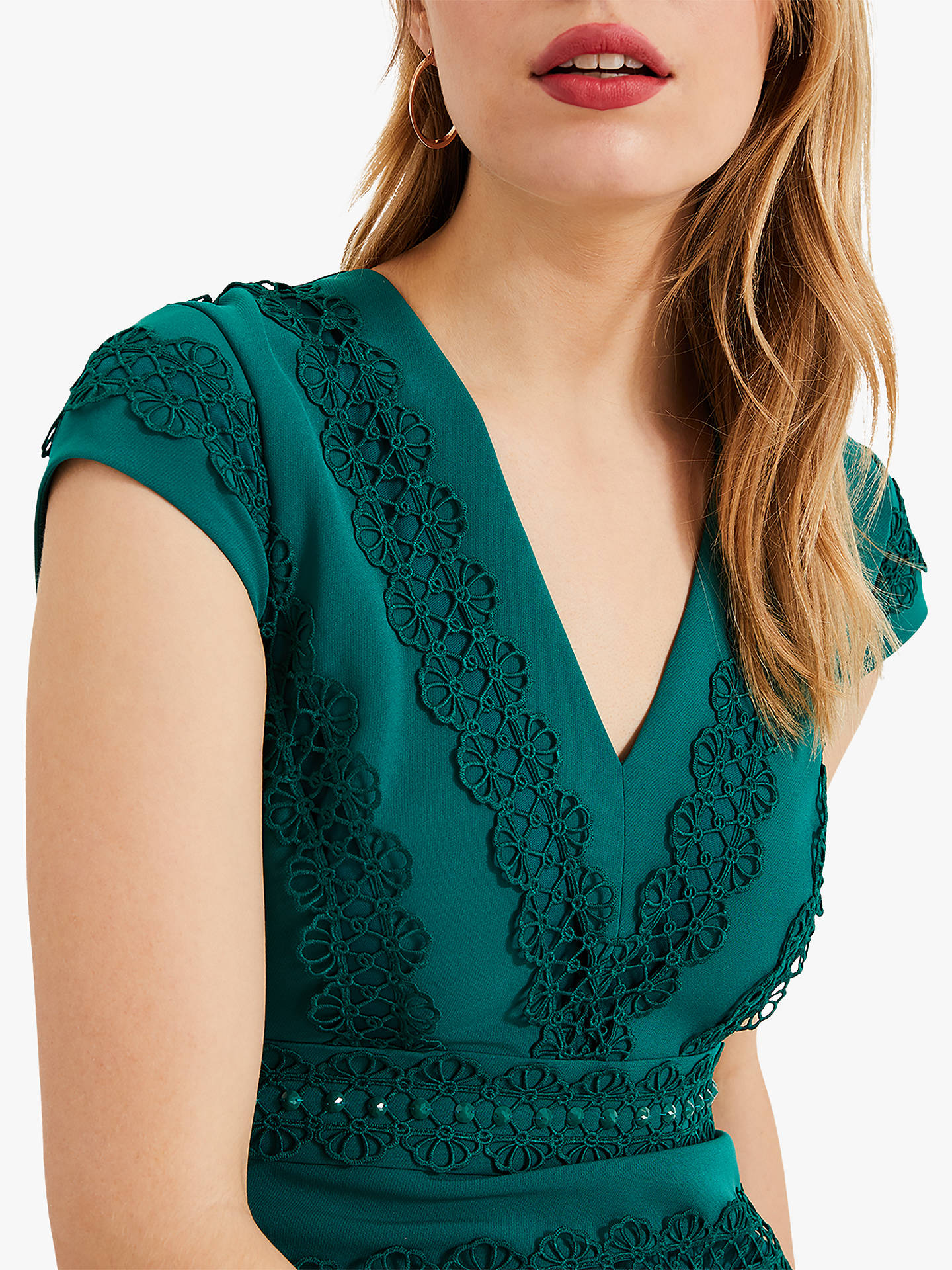 Buy Phase Eight Collection 8 Zelma Fishtail Dress, Jade, 12 Online at johnlewis.com