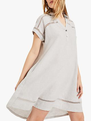 Phase Eight Arla Linen Smock Dress, Grey