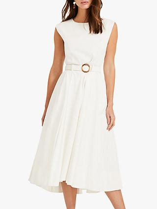 Phase Eight Mariella Cotton Blend Dress, Ivory