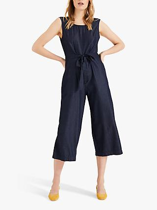 Phase Eight Stacey Denim Look Jumpsuit, Indigo